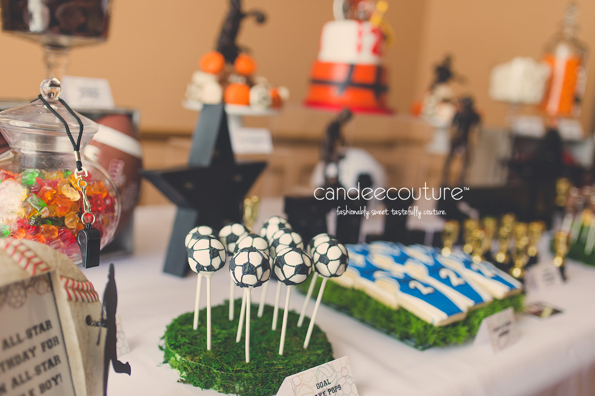 60ec7a6050053 All-Star Birthday Party - Candee Couture Sweet Table