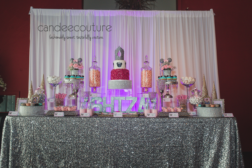Minnie Mouse Dessert Table, Minne Mouse Winter Wonderland Dessert Table, Dessert Tables, Minnie Dessert Tables, Minnie Mouse Dessert Table