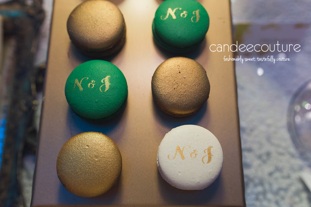 Dessert table, sweet table, wedding dessert table, wedding reception dessert table, initial macarons, macarons, wedding, reception, wedding inspiration, luxury wedding, macarons with initials, customized macarons