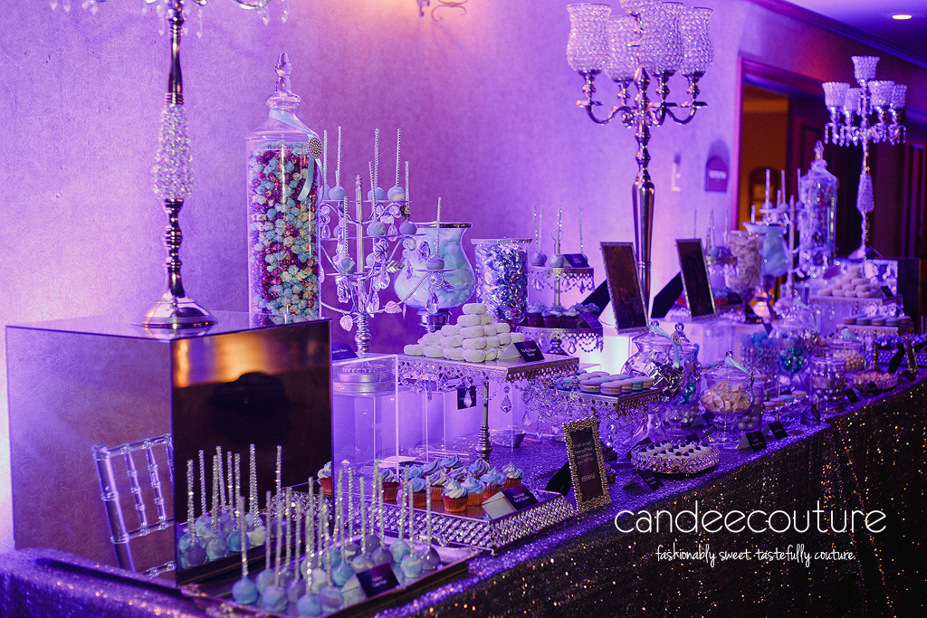 Galaxy theme wedding, Galaxy dessert table, Galaxy Wedding dessert table, dessert table, blue dessert table, purple dessert table, wedding, reception, luxury wedding, Indian wedding, Indian wedding dessert table, Galaxy cake pops, Galaxy cookies, Galaxy macarons, candy, chocolate, sweet table, cheesecake bites