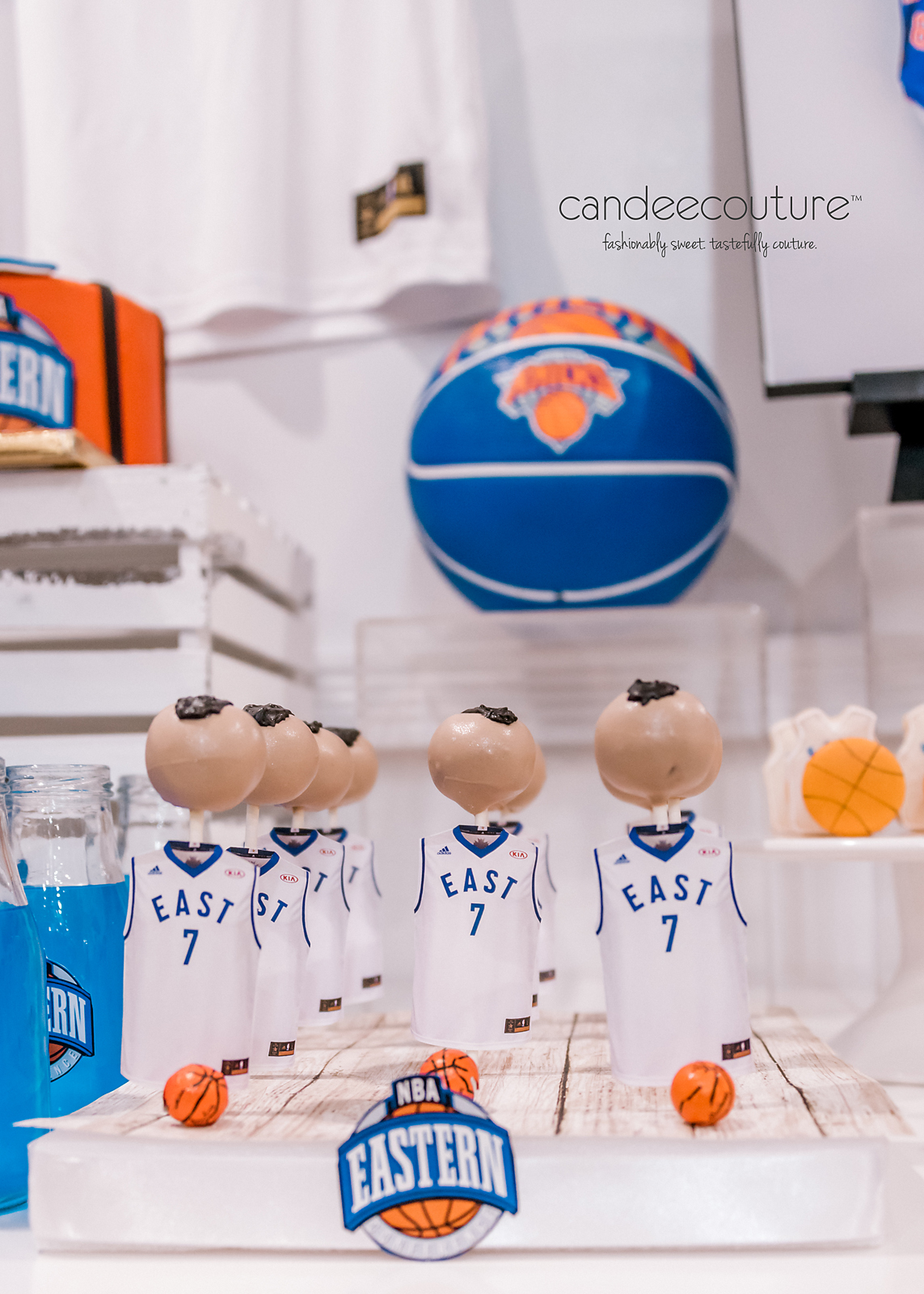 NBA jersey cake pops, NBA cake pops, eastern conference cake pops, NBA eastern conference cake pops, NBA eastern conference all-star cake pops, Basketball treats, NBA basketball cake pops, NBA All-star desserts, candy table, sweet table, nba themed party, new york knicks party, nba all-star theme party, birthday, nba all-star theme, nba cake, basketball, basketball desserts nba theme table, nba all-star theme table, new york knicks dessert table, knicks sweet table