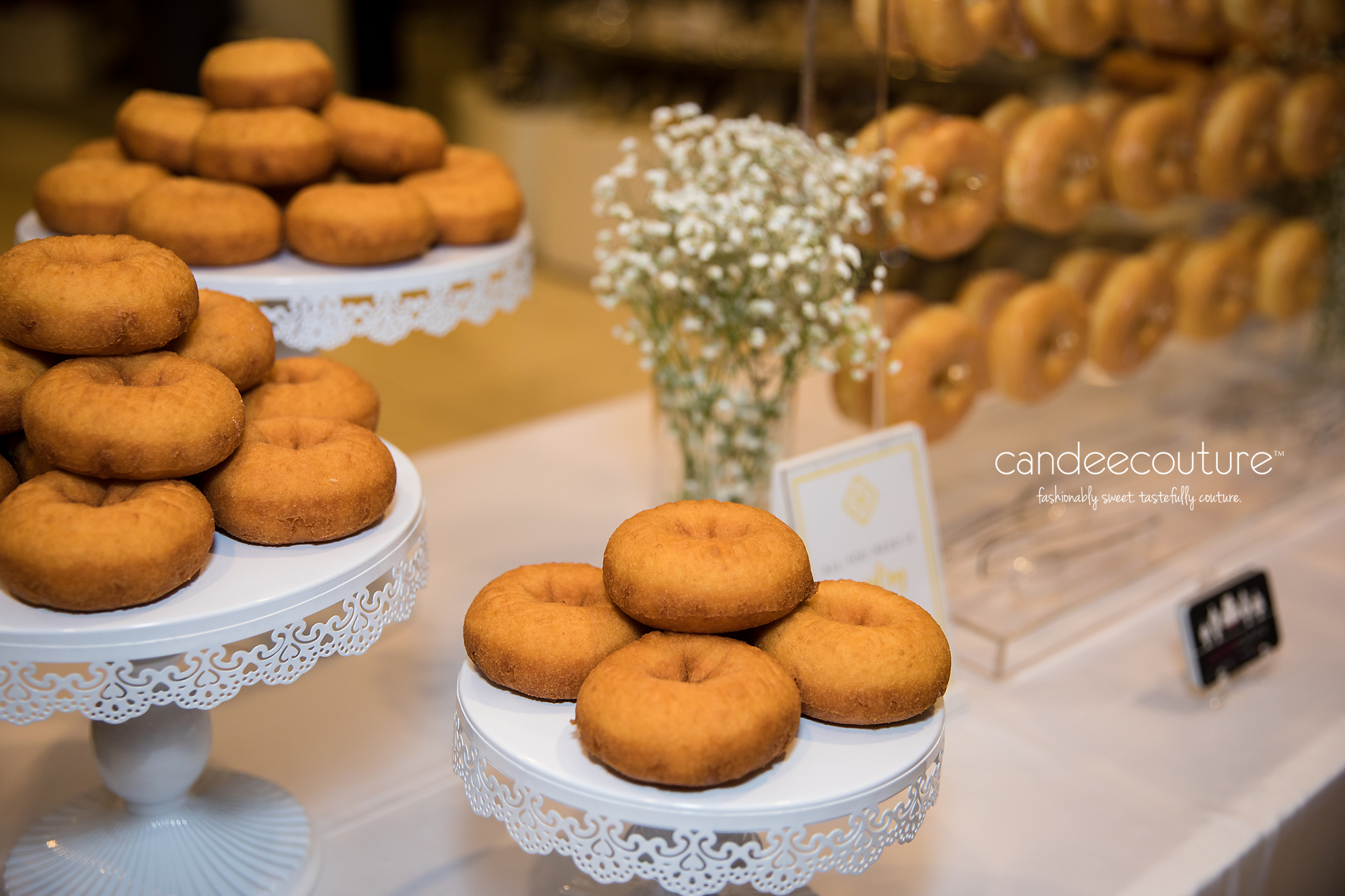 Donuts, corporate event, donut display, donut stands, glazed donuts, cake donuts, plain donuts, donut wall, donut bar,