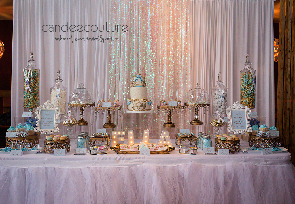 Cinderella Dessert Table, Cinderella Dessert Table, Dessert Tables, Cinderella Table, Cinderella Dessert Table Cinderella Theme dessert on a sweet table created by Candee Couture.