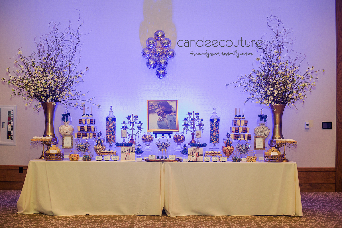 Luxury wedding, Luxury dessert table, cake pops, cookies, macarons, cheesecake bites, mithai, dessert shooters, candy, chocolate, sweet table, Wedding dessert table, dessert table, blue dessert table, wedding, reception, luxury wedding, Indian wedding, Indian wedding dessert table
